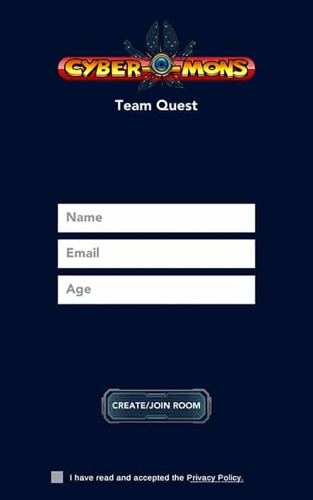 team-quest-cyber-ui-registration