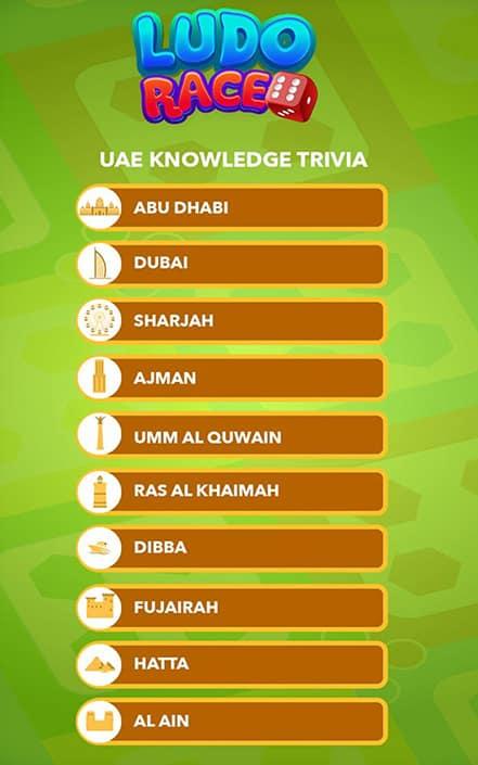 ludo race uae knowledge trivia