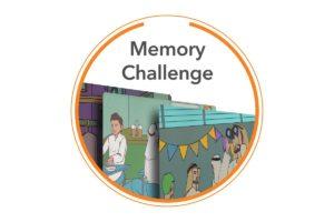 memory challenge white background