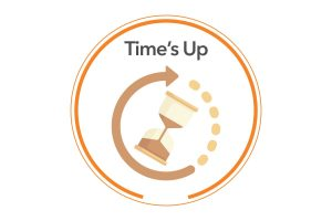 times up white background