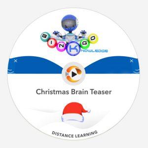 Christmas brain teaser Knowledge Bingo
