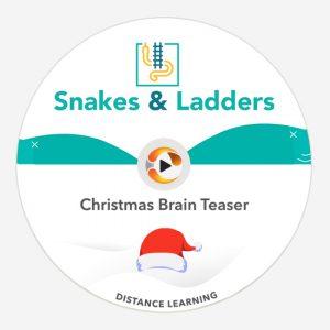 Christmas Brain Teaser SNAKES & LADDERS